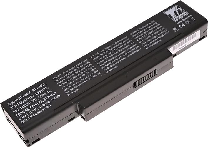 Baterie T6 power SQU-524, BTY-M66, A42-A9, A42-Z94, A32-Z94, SQU-503, SQU-511, CBPIL44, A32-Z96, M660NBAT-6, BATEL80L6, 90-NFY6B1000, 906C5040F