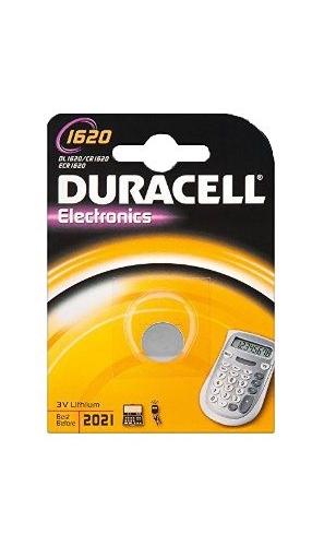 Baterie Duracell CR1620, DL1620, BR1620, KL1620, LM1620, 3V, blistr 1 ks