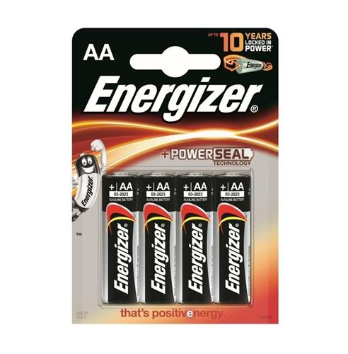 Baterie Energizer Base PowerSeal AA, LR6, tužková, 1,5V, blistr 4 ks