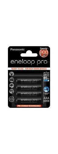 Baterie Panasonic Eneloop Pro BK-4HCCE, BK-4HCDE, AAA 950mAh, blistr 4ks