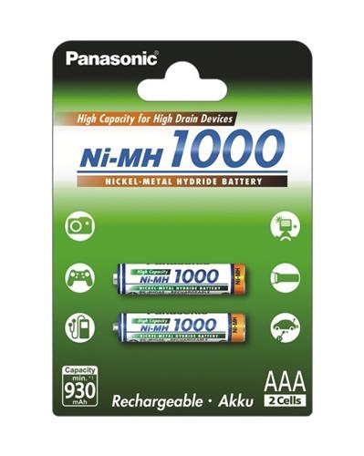 Baterie Panasonic BK-4HGAE, AAA NiMH 1000 mAh, blistr 2 ks