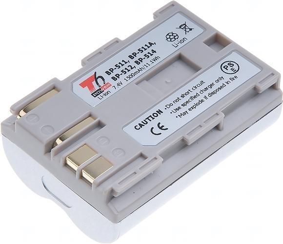 Baterie T6 power BP-508, BP-511, BP-511A, BP-512, BP-514, stříbrná