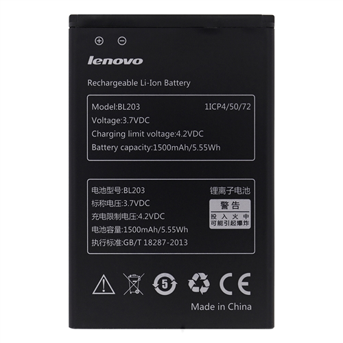 Baterie originál Lenovo BL203, Li-ion, 1500mAh, bulk