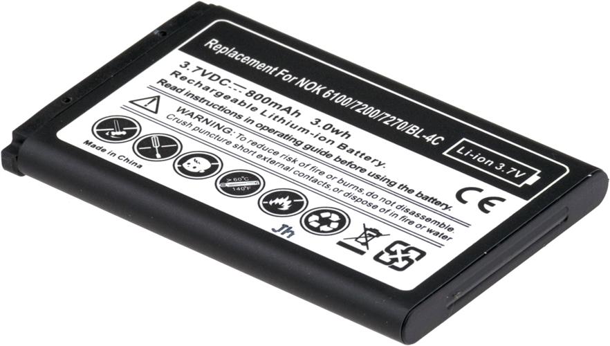 Baterie Accu pro Nokia 6100, 6300, 2650, 2652, 3500 classic, 5100, 6101, 6102, Li-ion, 950mAh