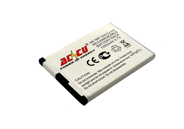 Baterie Accu pro Nokia N97 mini, Li-ion, 1250mAh