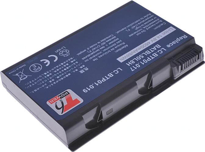 Baterie T6 power BATBL50L4, BATBL50L8H, LC.BTP01.019, 4UR18650F-2-CPL-25, LIP4097CMPC, LIP8211CMPC, BT.00604.008, BT.00803.023, BT.00804.012