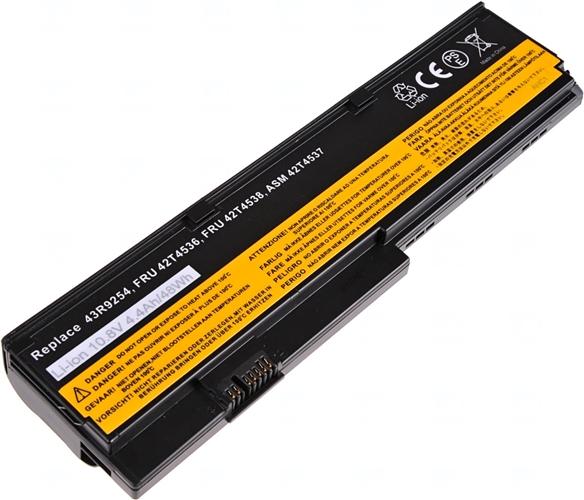 Baterie T6 power Basic 43R9254, FRU 42T4536, ASM 42T4537, FRU 42T4538, FRU 42T4647, FRU 42T4648, 42T4834, 42T4543, 42T4837, 42T4836