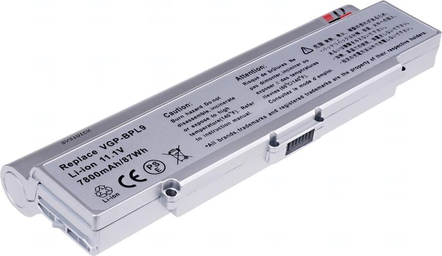 Baterie T6 power VGP-BPL9, VGP-BPS9/S, stříbrná