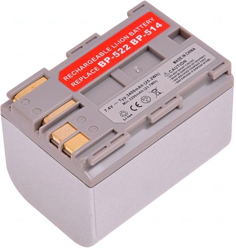 Baterie T6 power BP-522, BP-508, BP-511, BP-511A, BP-512, BP-514, stříbrná