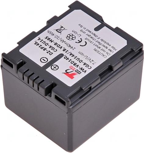 Baterie T6 power VW-VBD140, CGA-DU14E/1B, DZ-BP14S, CGA-DU12, CGA-DU21, CGR-DU06, CGR-DU07 šedá