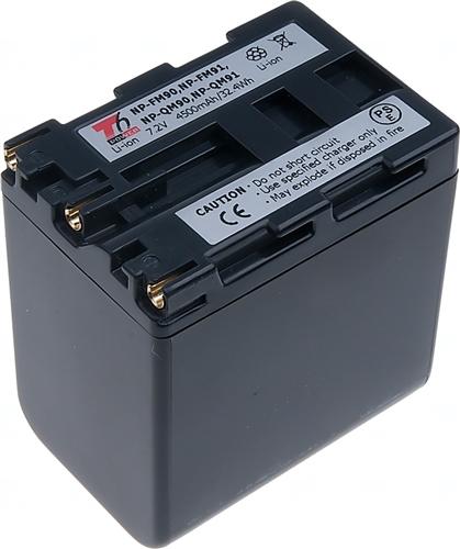 Baterie T6 power NP-FM90, NP-QM90, NP-FM91, NP-QM91, NP-QM90D, NP-QM91D, šedá