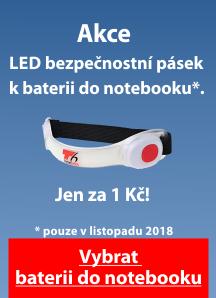 T6 Power LED bezpečnostní pásek k baterii do notebooku jen za 1,-
