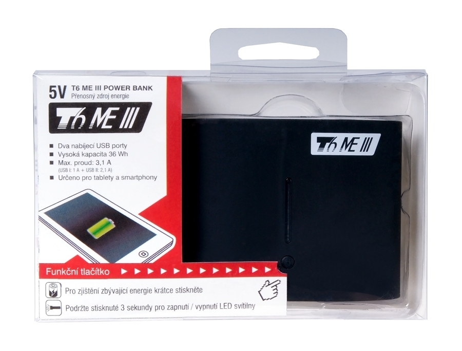 Externí baterie T6 power ME III