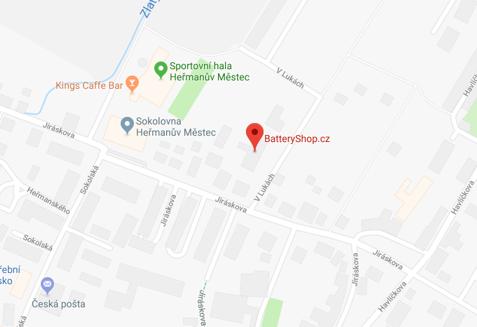 Mapa - nová adresa Batteryshop.cz